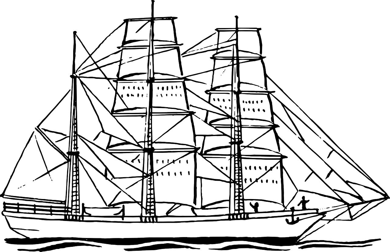 1280x828 Boat Free Coloring Pages For Kids Pics