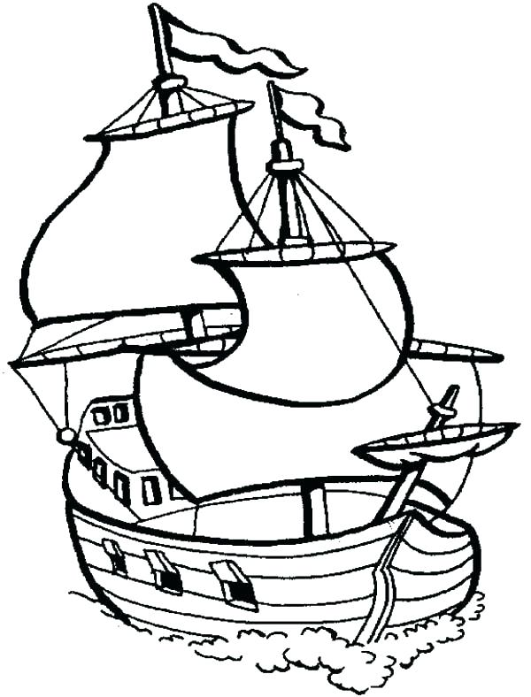 600x788 Fishing Boat Coloring Pages Boat Coloring Page Big Sail Boat
