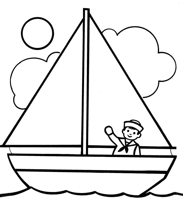 734x800 Free Printable Boat Coloring Pages For Kids Boating, Embroidery