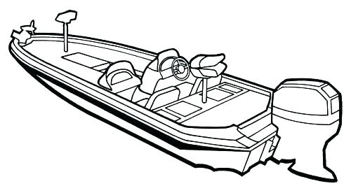 500x276 Speed Boat Coloring Pages Boat Coloring Pages Free Collection