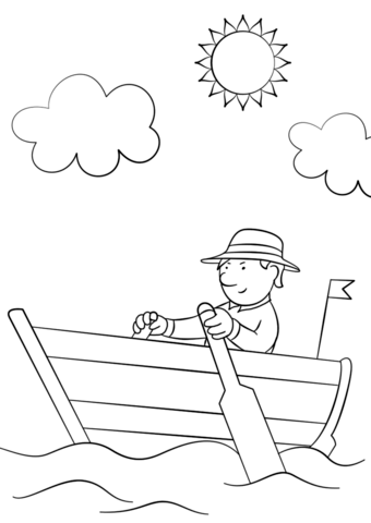 340x480 Top Boat Coloring Pages