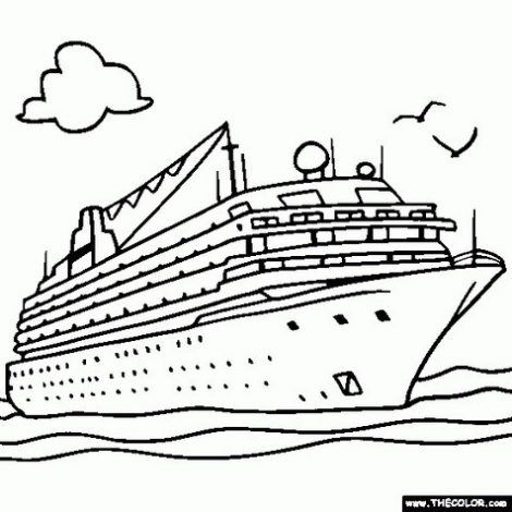 470x470 Coloring Pages Winsome Boat Coloring Pages Cruise Ship Page Boat
