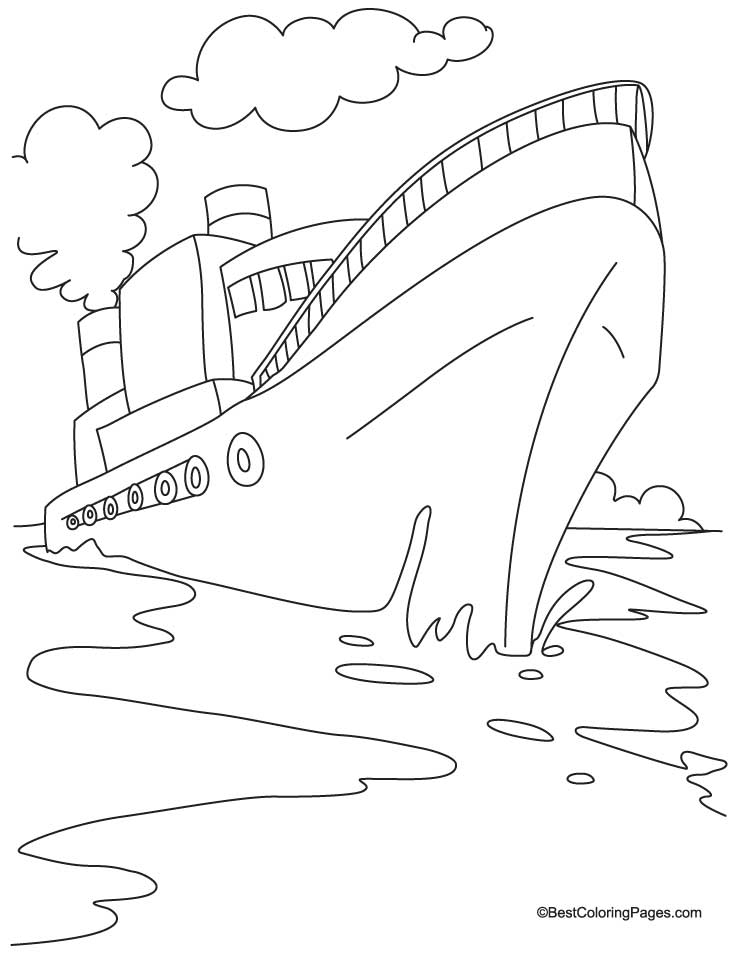 738x954 Boat Coloring Pages For Kids