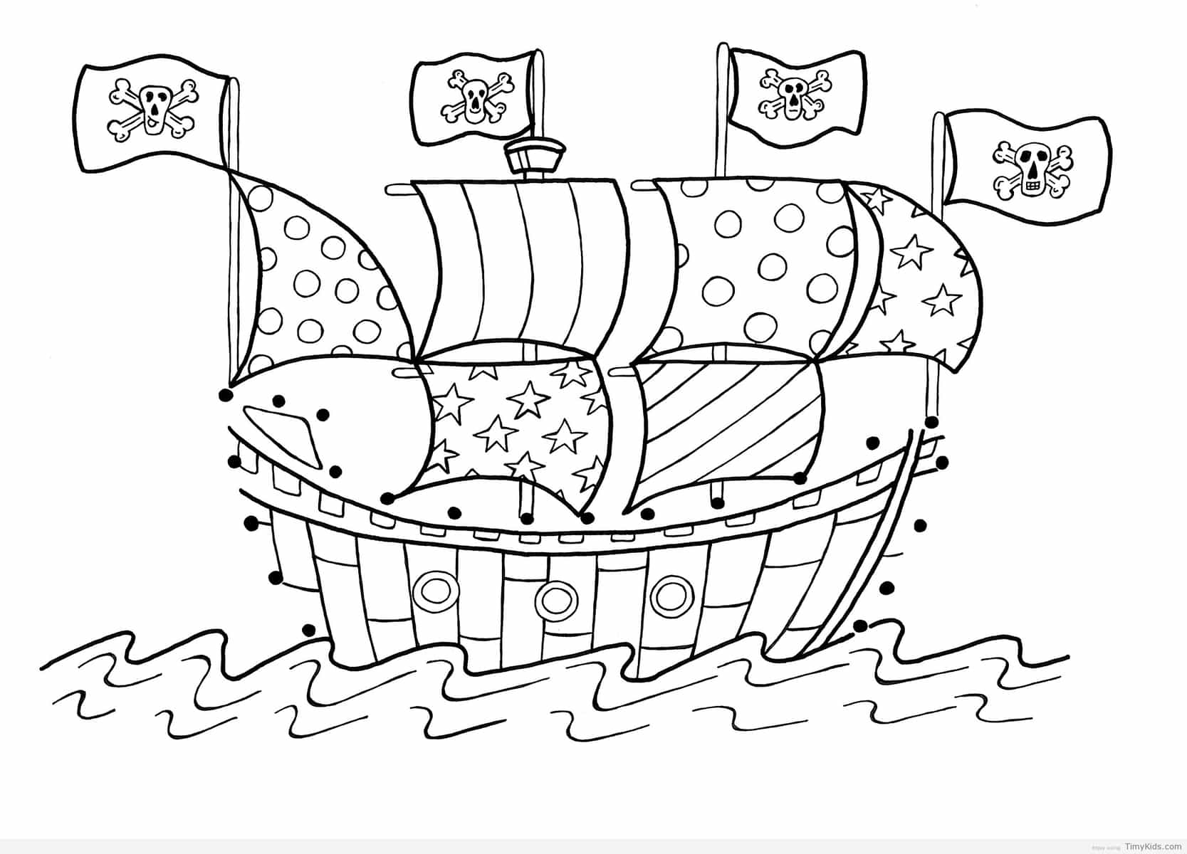 1667x1200 Cool Sportfishing Boat Coloring Picture To Print