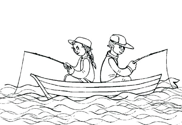 600x413 Fishing Boat Coloring Pages Fishing Boat Coloring Pages Printable