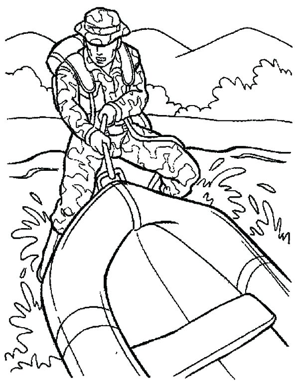 600x765 Military Rubber Boat Coloring Pages Color Military Rubber Boat