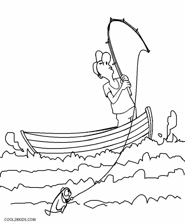 734x886 Printable Boat Coloring Pages For Kids