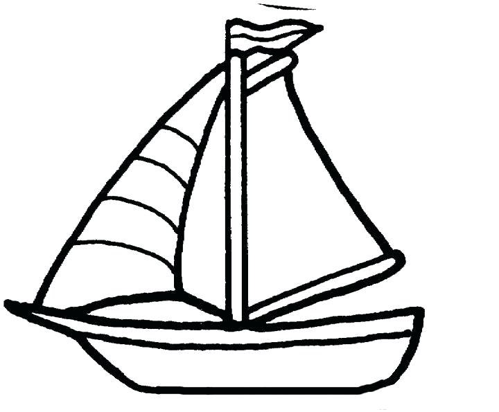 720x595 Boat Coloring Pages