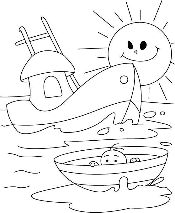 558x680 Boat Coloring Page An Infant In A Boat Coloring Page Coloring