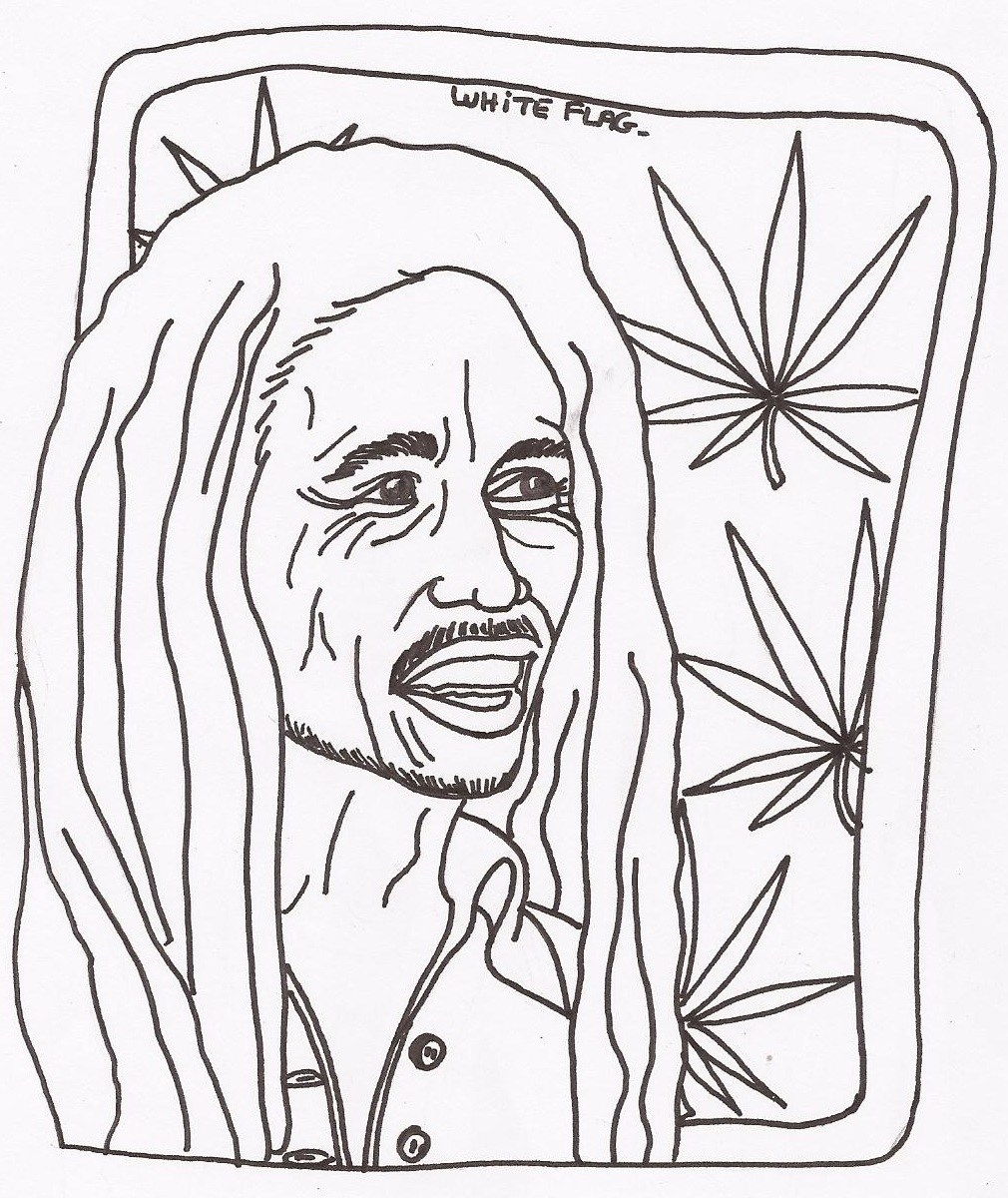 1010x1200 Bob Marley Famous People Coloring Pages To Print Famous People