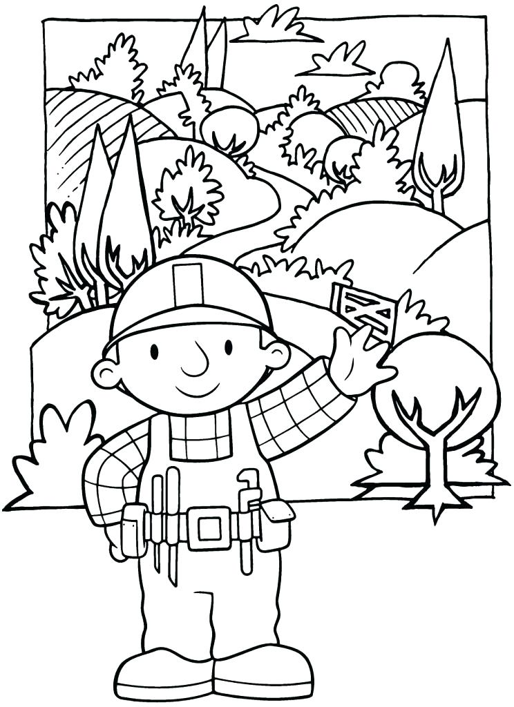 744x1024 Bob Builder Coloring Pages Printable Medium Size Of Bob