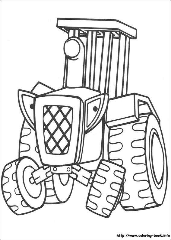 567x794 Bob The Builder Coloring Picture