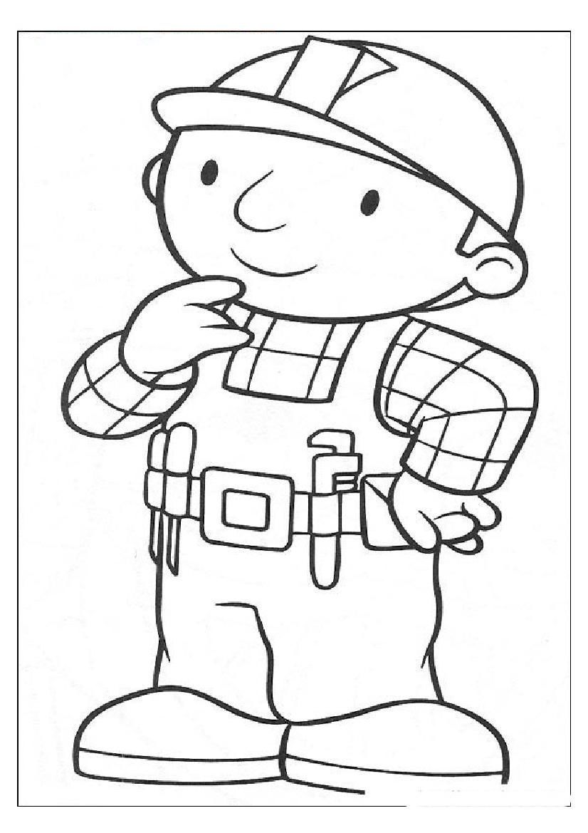 826x1169 Appealing Printable Bob The Builder Coloring Pages Me Throughout