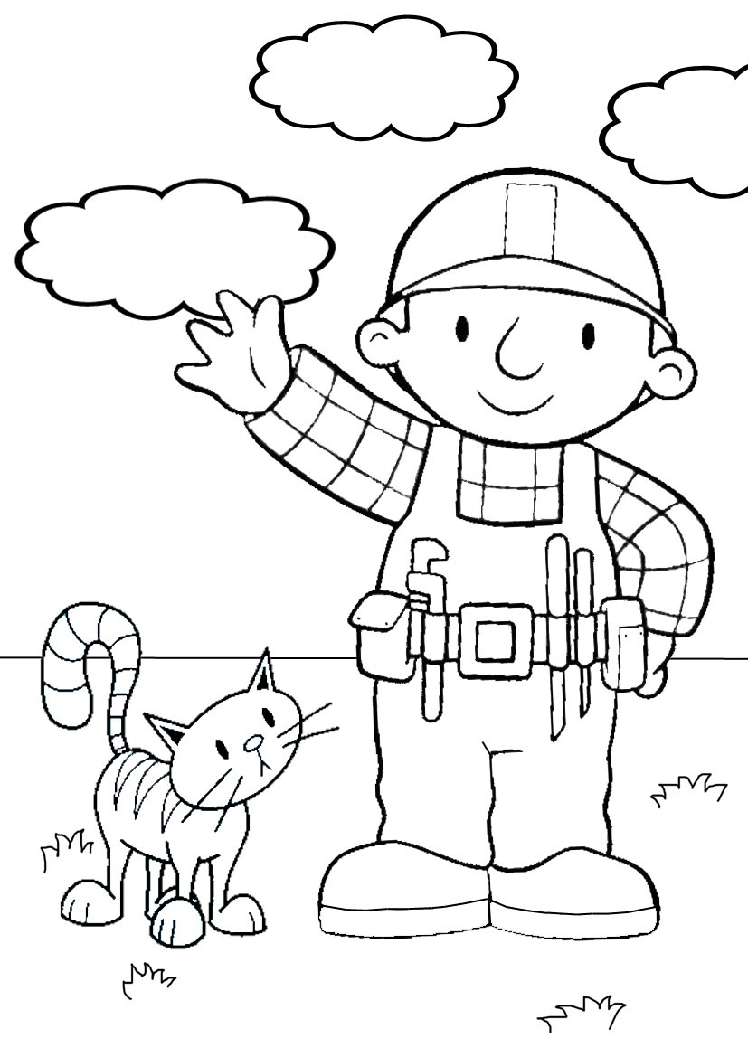 827x1169 Bob Builder Coloring Pages Printable