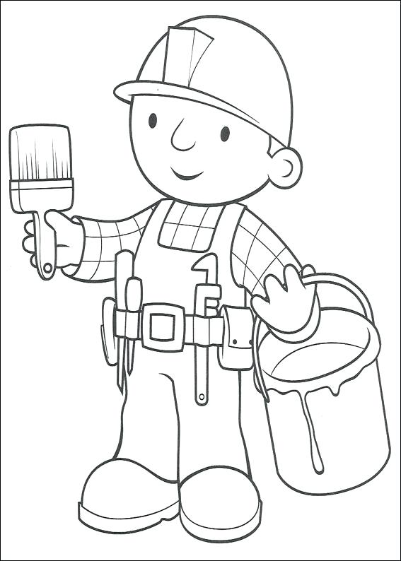 567x794 Bob The Builder Coloring Pages Bob The Builder Coloring Picture