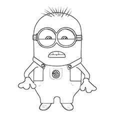Bob The Minion Coloring Pages