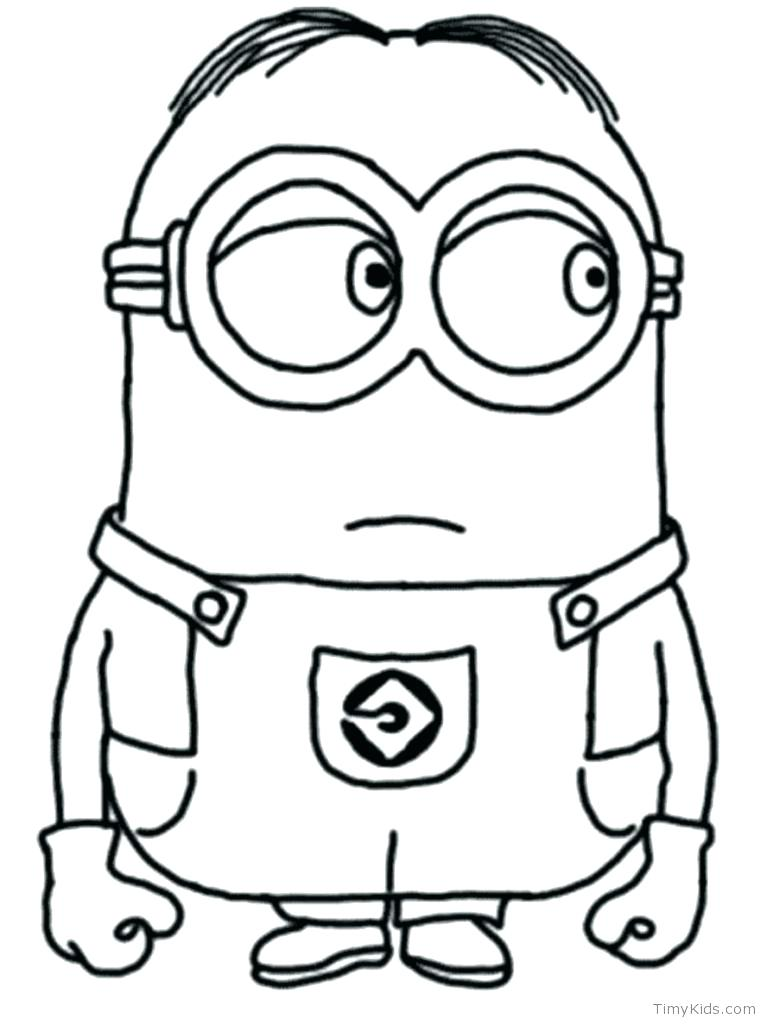 767x1024 Minion Coloring Sheets Minion Coloring Pages And Minion With Two