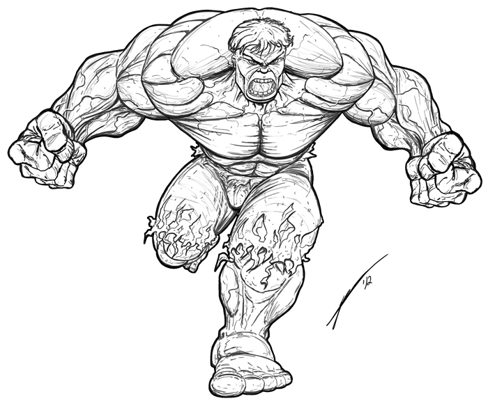 700x576 Drawing Of The Hulk Free Download
