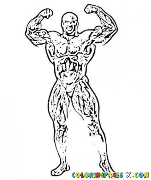 530x628 Ronnie Coleman Coloring Page Coloring Pages Rony Bodybuilder