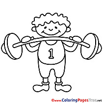 210x210 Sport Coloring Pages