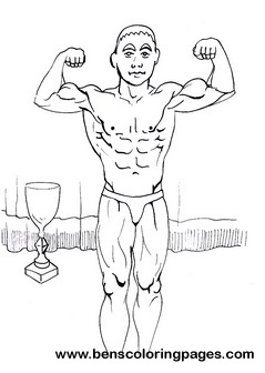 239x336 Body Building Coloring Pages For Children