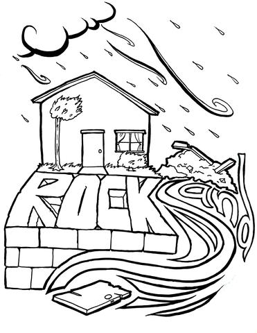 371x480 Wise And Foolish Builders Coloring Page Children's Ministry Deals