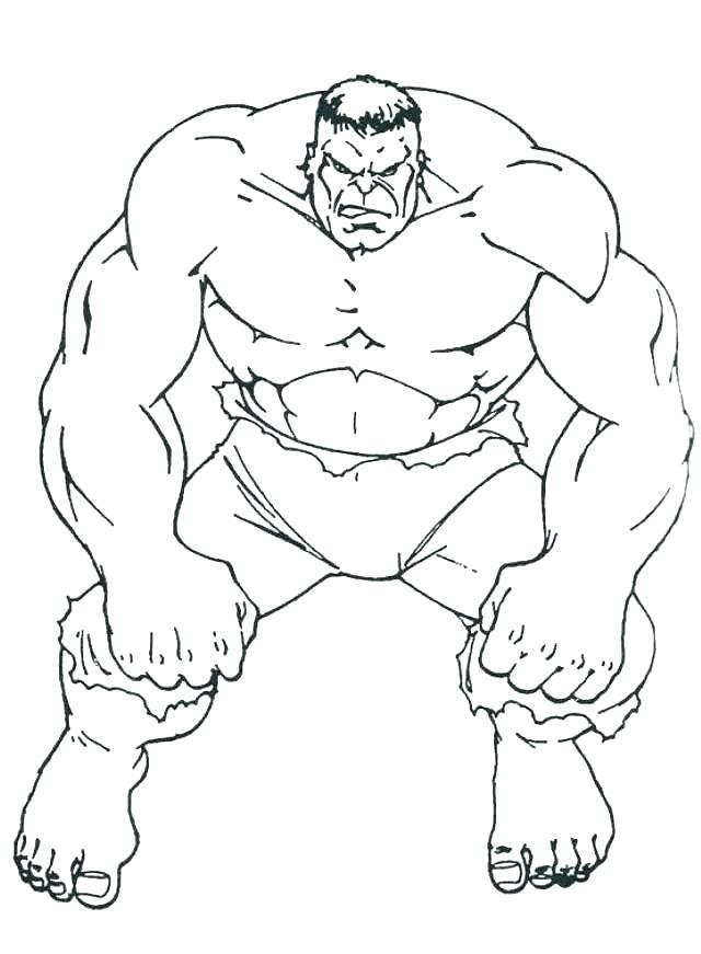 640x871 The Hulk Coloring Pages