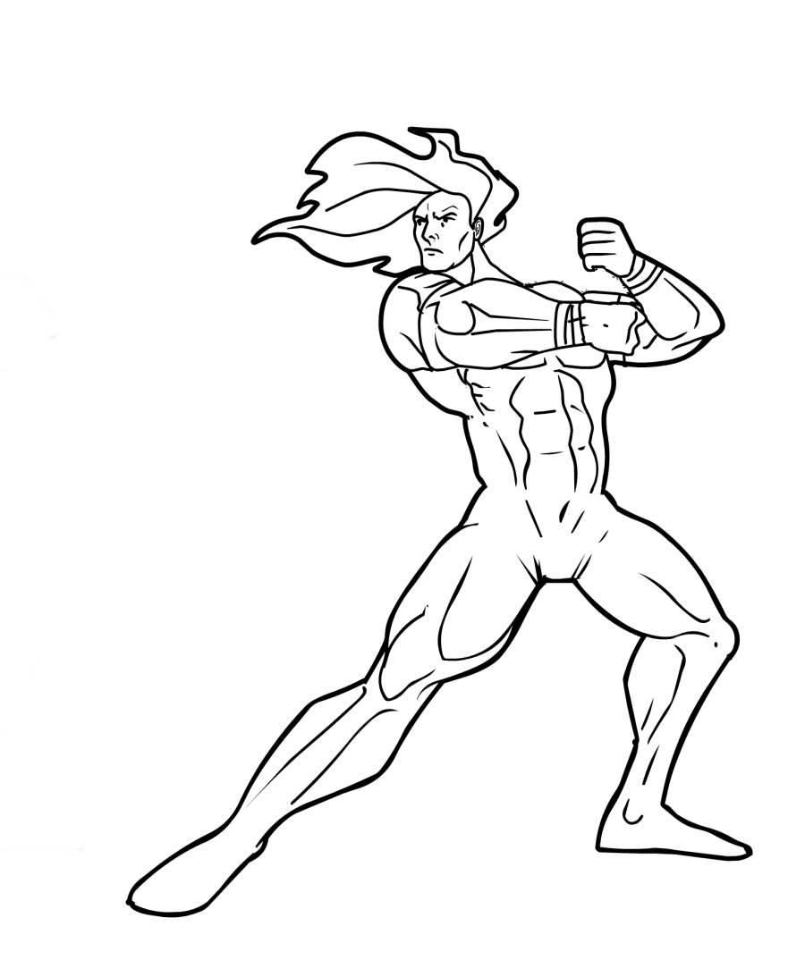 900x1074 Bodybuilder Printable Coloring Pages