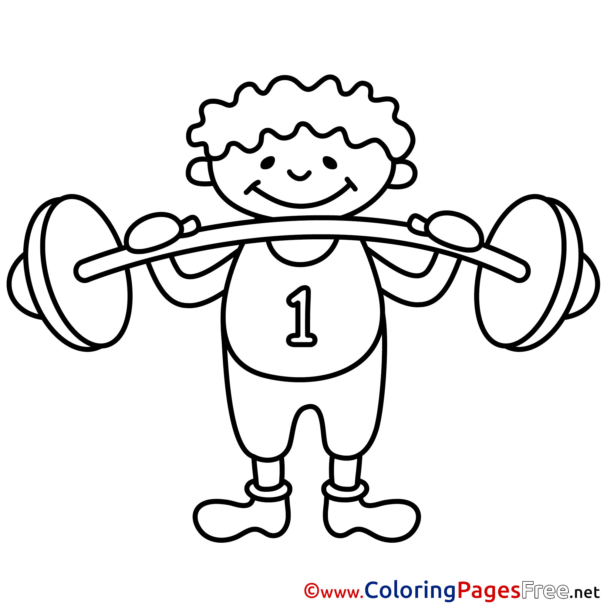 2001x2001 Bodybuilder Kids Download Coloring Pages