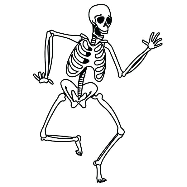 600x600 Human Body Coloring Page