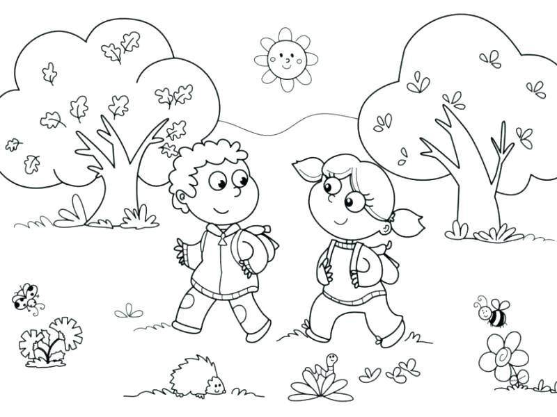 800x600 Free Preschool Coloring Pages Body Parts Coloring Pages