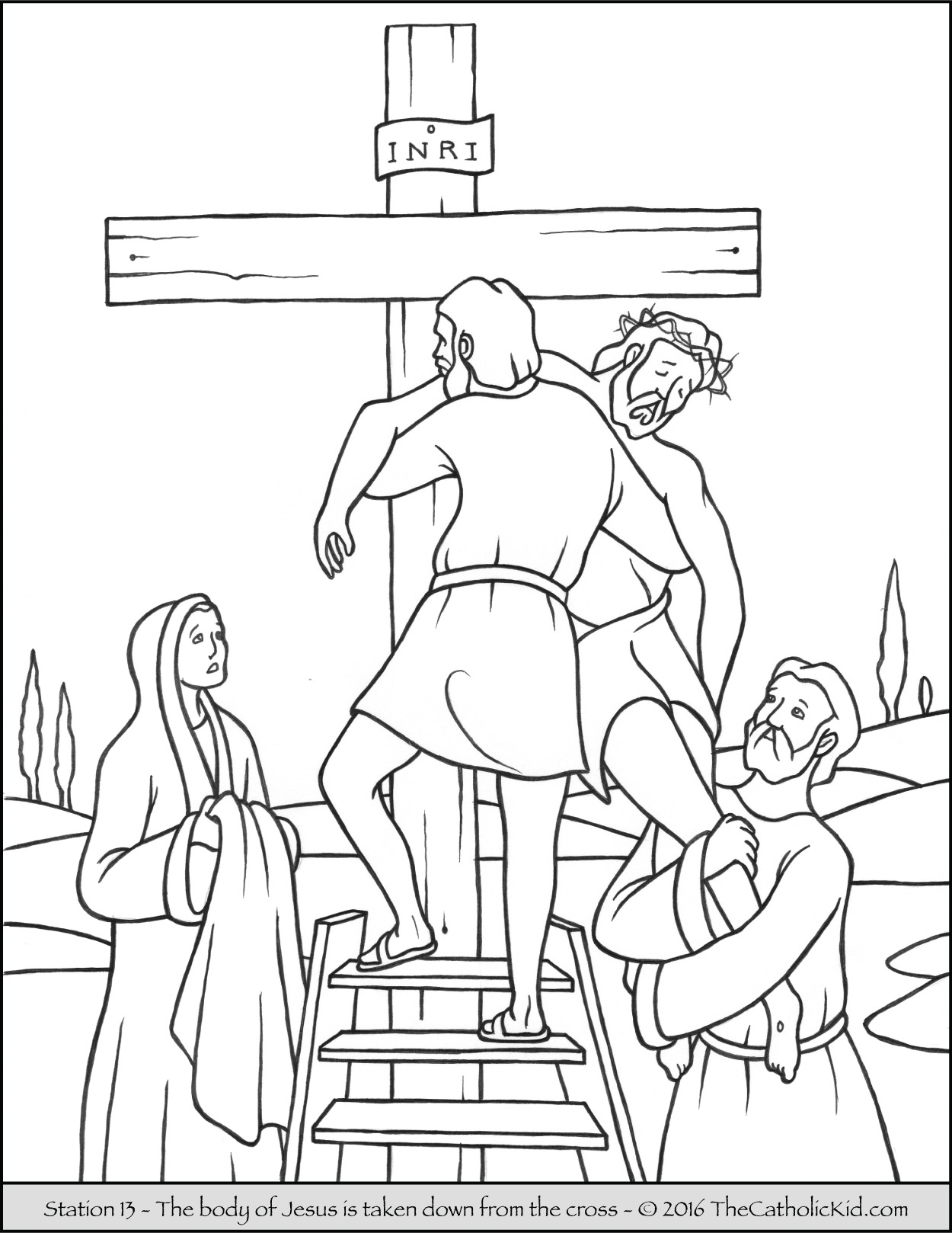 1250x1618 Stations Of The Cross Coloring Pages The Catholic Kid New