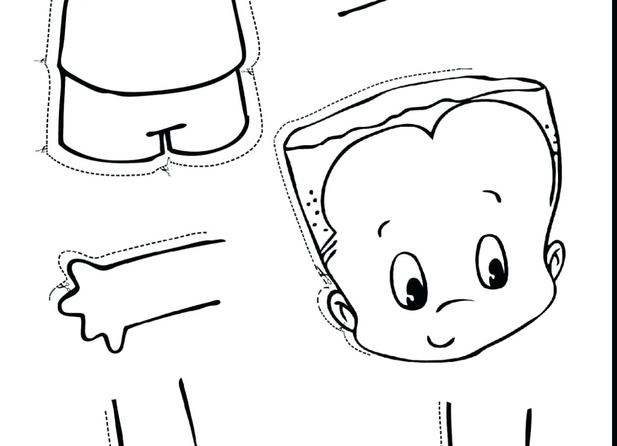 1245x900 Superior Parts Of The Body Coloring Pages For Preschool