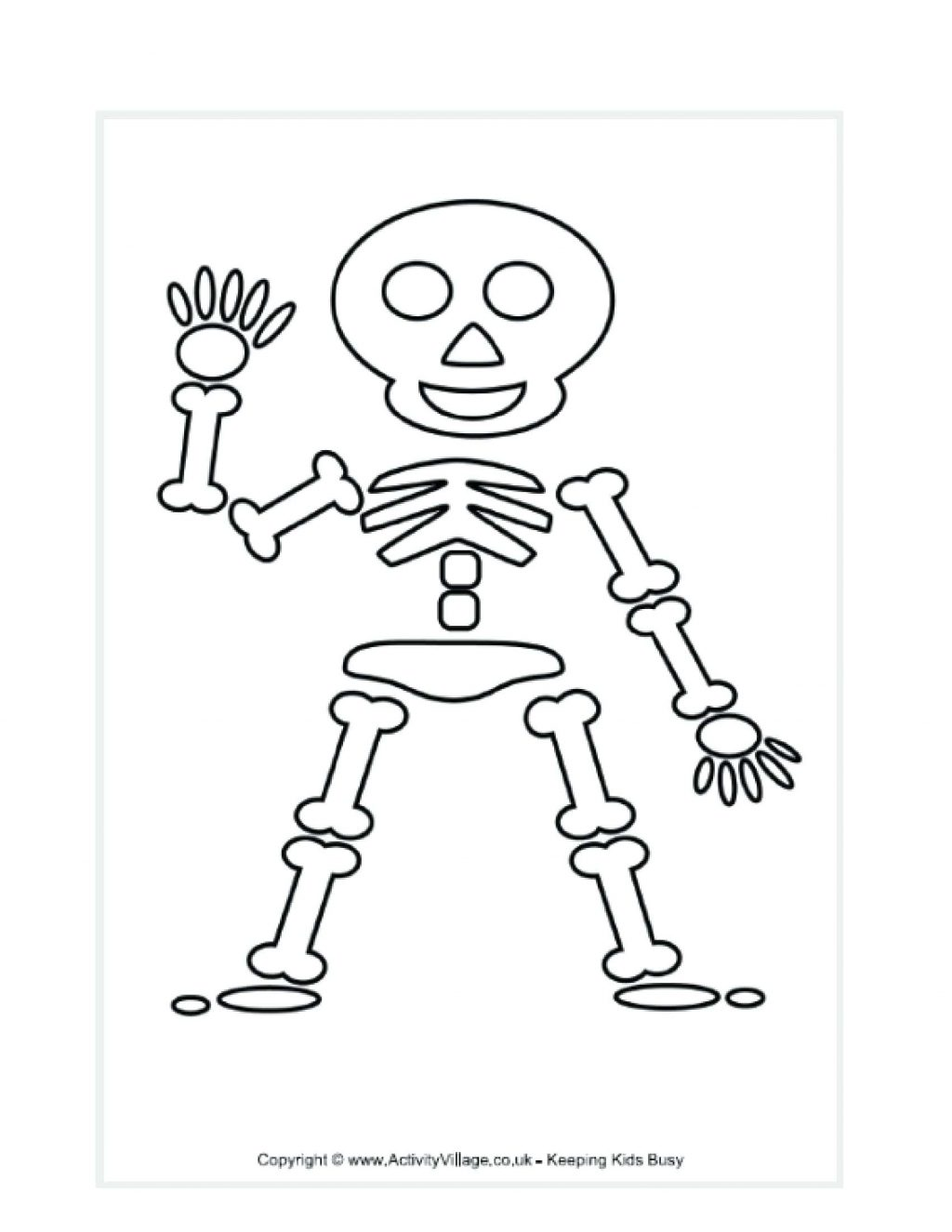 1024x1325 Printable Skeleton Template Large Body Parts Coloring Pages