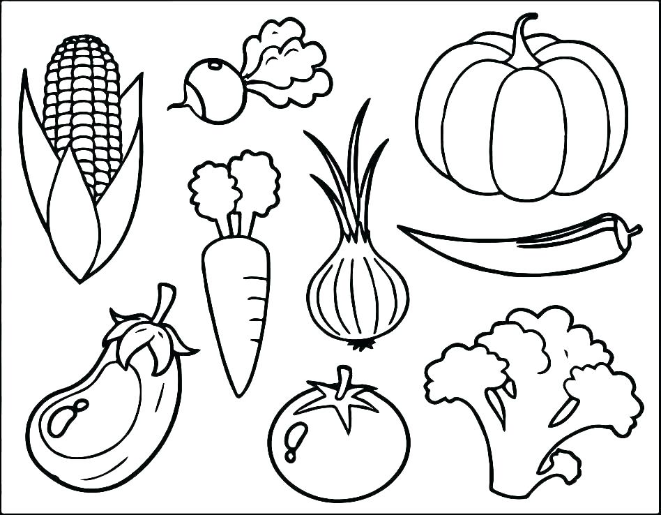 948x738 Body Parts Coloring Page