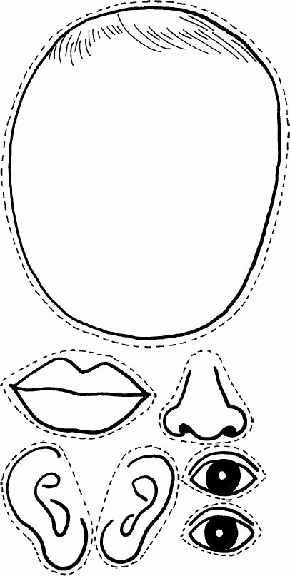 Body Parts Coloring Pages For Preschool