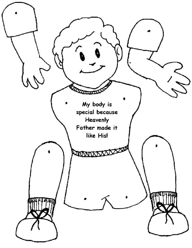 793x1024 Body Parts Coloring Pages