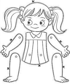 236x282 Body Parts Coloring Pages For Kids