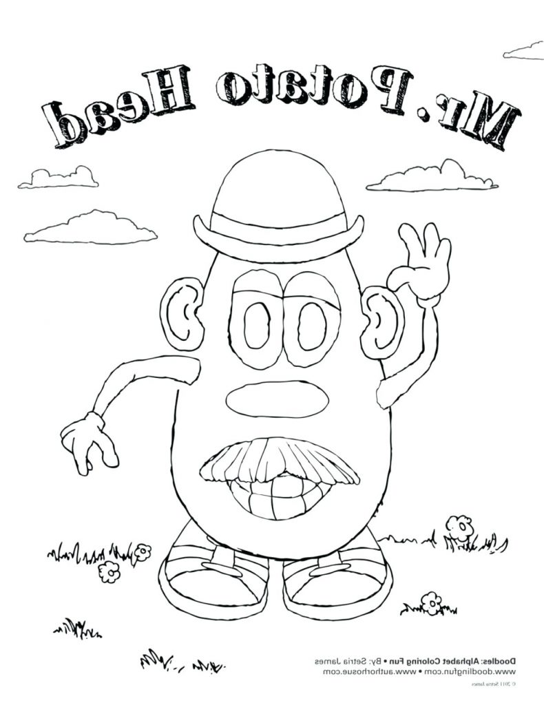 790x1024 Terrific Butterfly Coloring Pages With Bug And Cartoon Potato