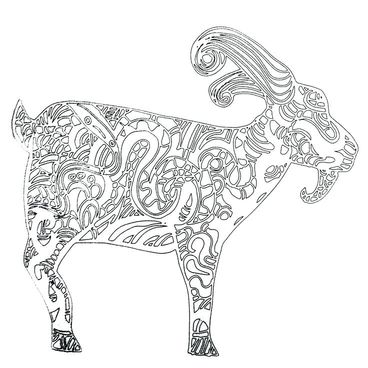 736x736 Goat Coloring Page Goat Coloring Sheet Happy Coloring Pages