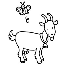230x230 Goat Coloring Pages