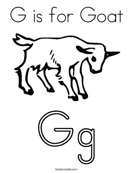 468x605 Goat Coloring Pages G Is For Goat Coloring Page Goat Simulator