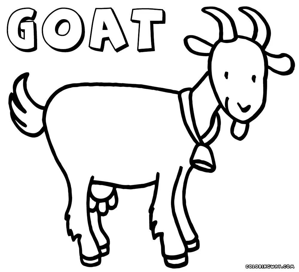 1000x909 Goat Coloring Pages Geekbits Org In Noticeable Acpra