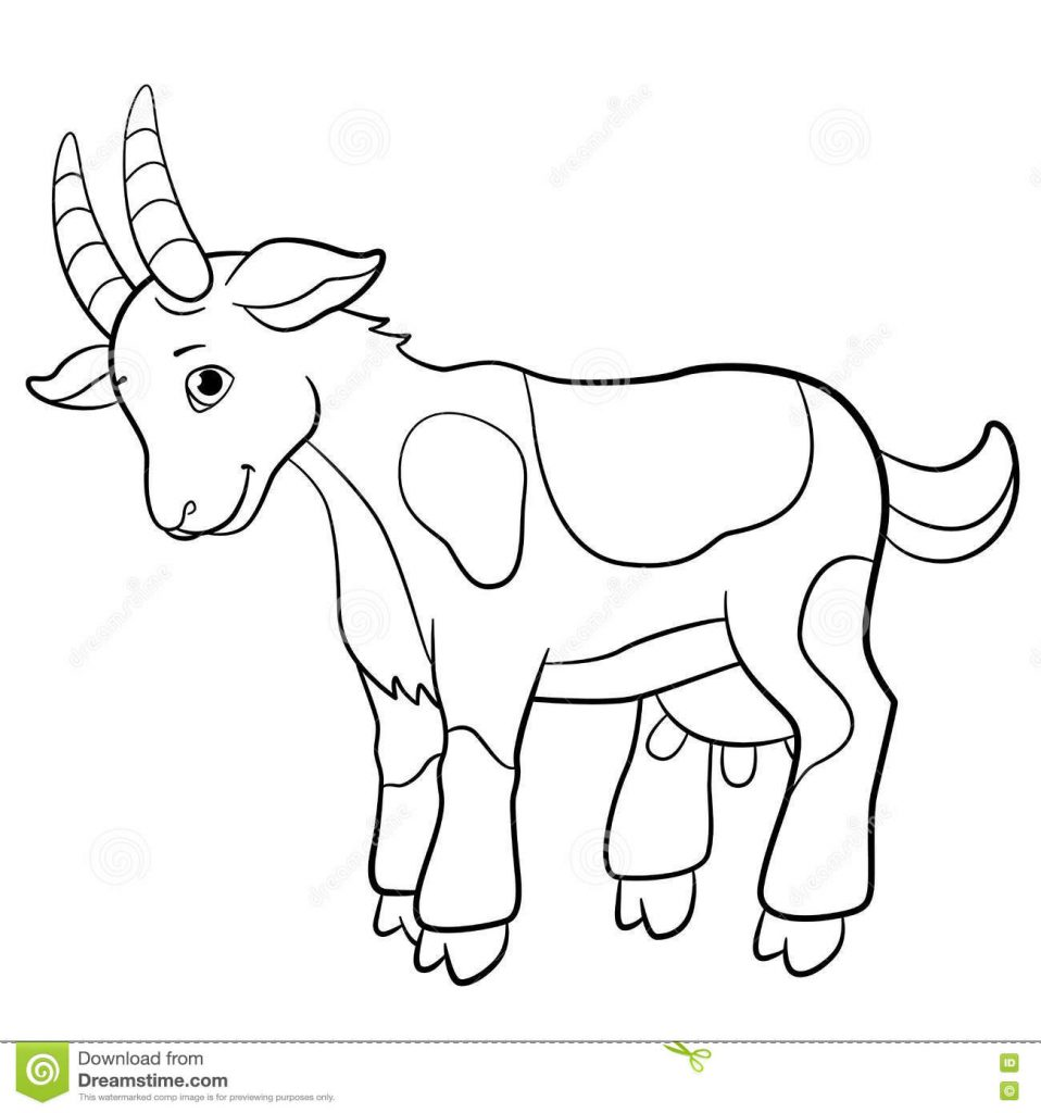958x1024 Simplistic Boer Goat Coloring Pages Popular Pa