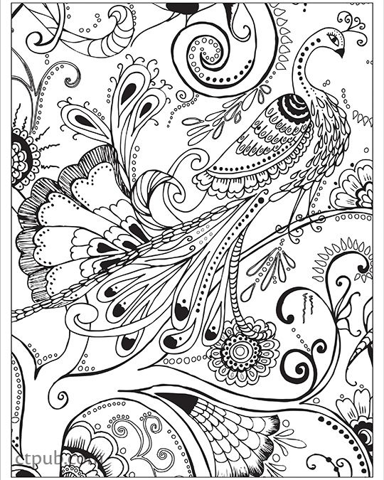 540x675 Boho Designs Coloring Book Fun Designs + See How Colors Play