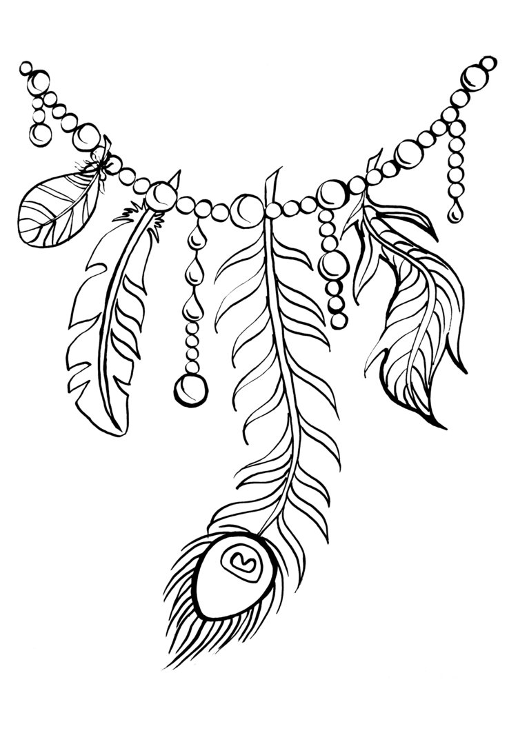 751x1063 Coloring Pages Boho Feathers Bird Feather Types Printable Page
