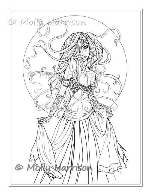 504x652 Gypsy Coloring Pages Gypsy Dancer Digital Stamp Printable Belly