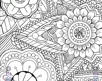 340x270 Zantagle Meditation Coloring Page Adult Coloring Page
