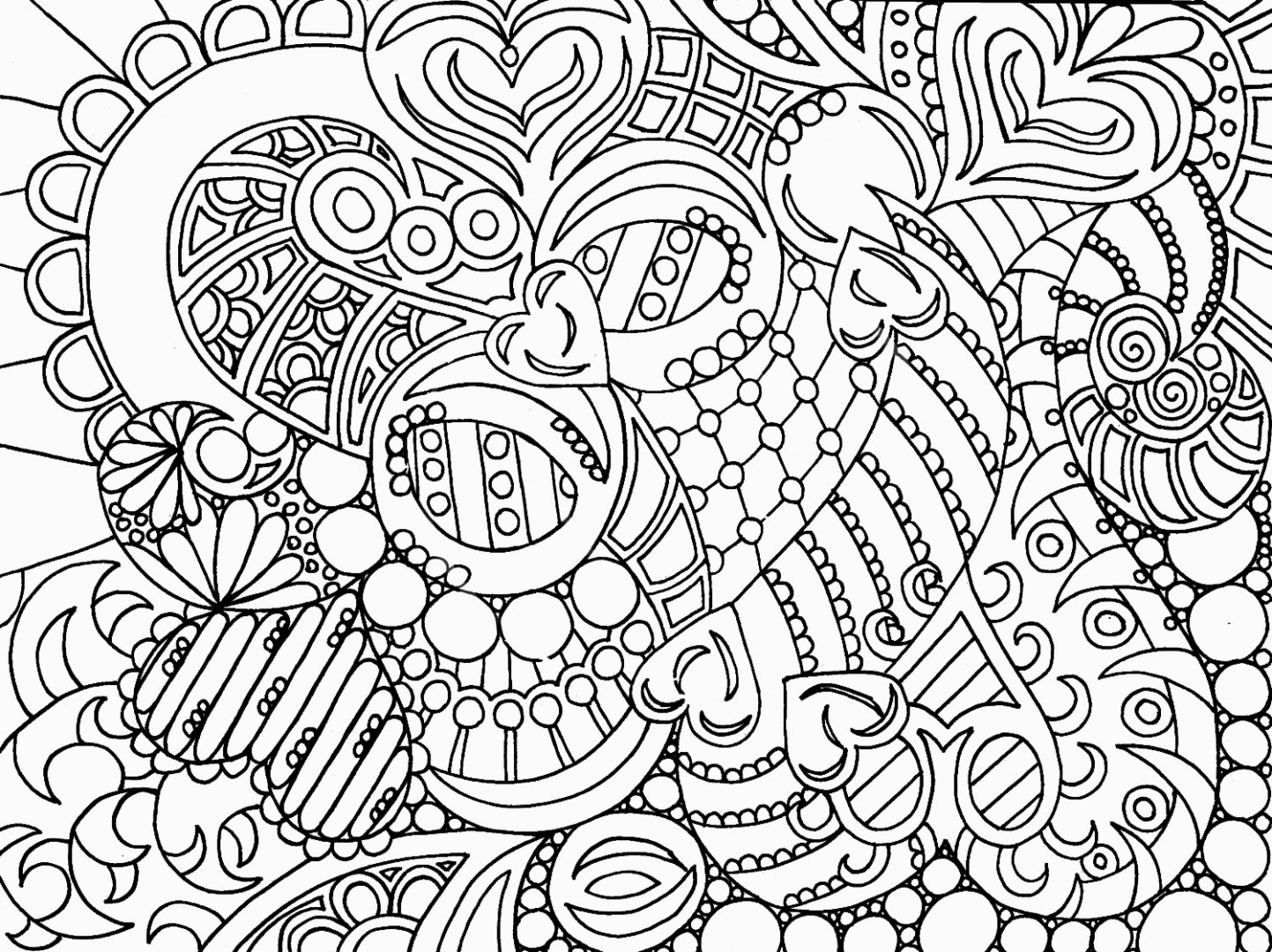 1443x1080 Coloring Pages For Girls Abstract Boho Just Colorings