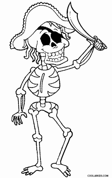 441x700 Printable Skeleton Coloring Pages For Kids